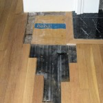 Project B: Another repair job, replacing a damaged section by the fireplace