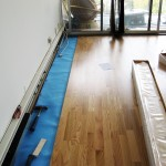Project D: Installing laminate floors, work in progress