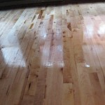 Project E: The beautiful new hardwood floors after sealing