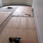 Project F: Installing new subflooring on the old ones