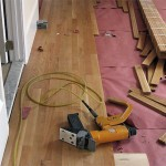 Project F: New hardwood floors being installed